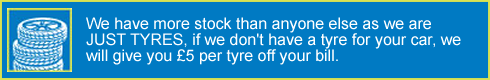 Milltown cheap car tyres